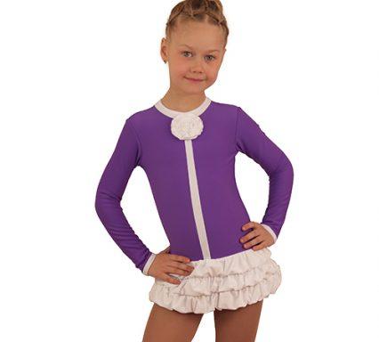 термоплатье буфф фиолетовый с белым передний вид