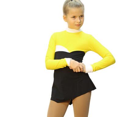 термоплатье тодес желтое+черное+ белое вид спререди