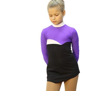 термоплатье тодес фиолетовый+черное+ белое вид спререди