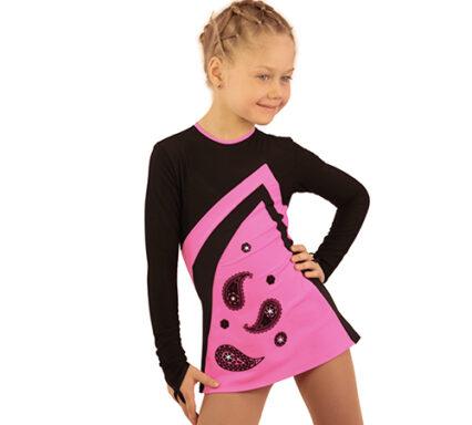 термоплатье Velvet ярко-розовый с черным передний вид