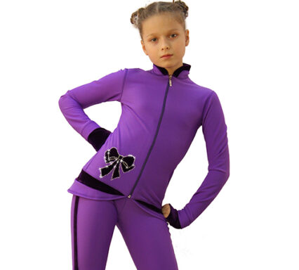 термокомплект butterfly фиолетовый с бархатом передний вид