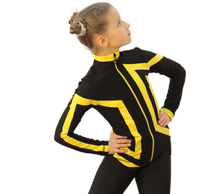 термокомплект Авангард-Спорт черный с желтым передний вид2