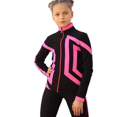 термокомплект Авангард-Спорт черный с ярко-розовым передний вид