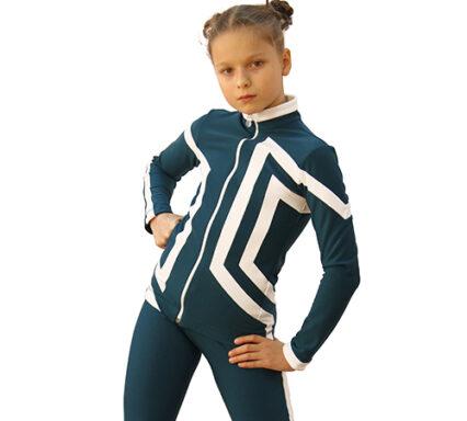 термокомплект авангард-спорт морская волна с белым боковой передний вид