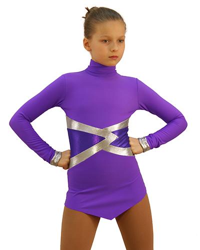 термоплатье Джаксон2 фиолетовое с серебром передний вид