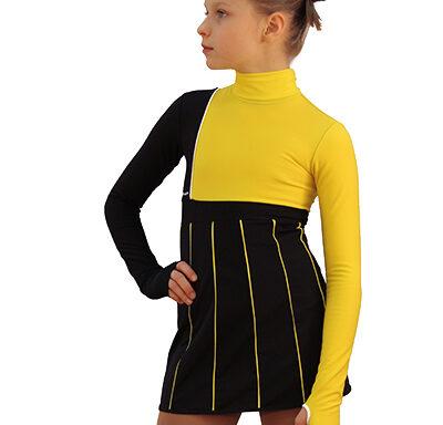 термоплатье IceArt  черно-желтое боковой передний вид