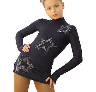 термоплатье Super Star серо-синий темный передний вид