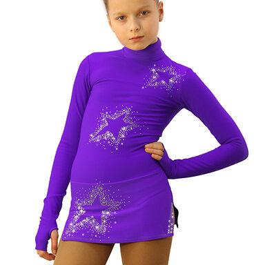 термоплатье Super Star фиолетовый  с серебром передний вид