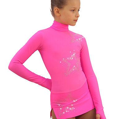 термоплатье Super Star ярко-розовый с серебром боковой передний вид
