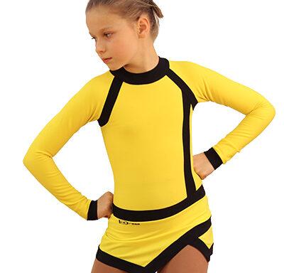 термоплатье icesport желтое с черным  передний вид