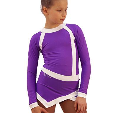 термоплатье icesport фиолетовый с белым передний вид