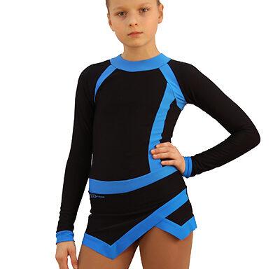 термоплатье icesport черное с голубым боковой передний вид