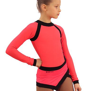 термоплатье icesport ярко-коралловый с черным передний вид